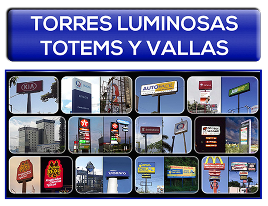 Torres Luminosas Totems y Vallas