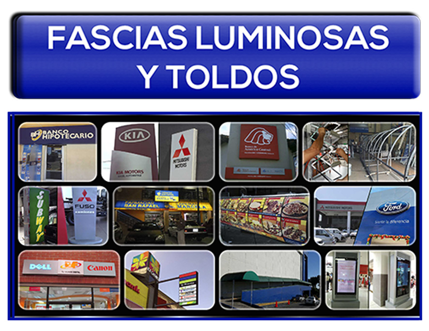 Fascias luminosas y Toldos